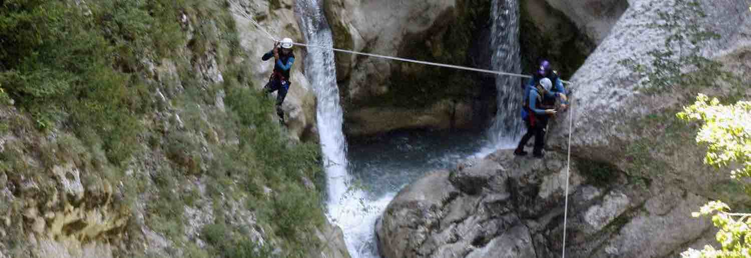 canyoning verdon Saint Auban